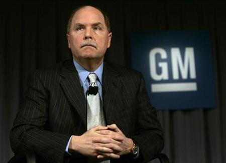 General Motors CEO Fritz Henderson talks about changes at GM at GM headquarters in Detroit, Michigan April 27, 2009. REUTERS/Rebecca Cook