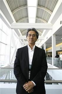 Capcom Chief Financial Officer Kazuhiko Abe poses during the 2008 E3 Media & Business Summit in Los Angeles July 15, 2008. REUTERS/Mario Anzuoni