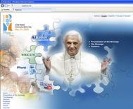 <p>Uma imagem do papa Bento 16 visto no novo portal do Vaticano na Internet. 22/05/2009. REUTERS/Conselho Pontifical para Comunicações Sociais/Divulgação</p>