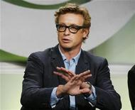 "<p>Actor Simon Baker, star of the CBS drama series ""The Mentalist"", takes part in a panel discussion at the CBS summer 2008 press tour in Beverly Hills, July 18, 2008. REUTERS/Fred Prouser</p>"