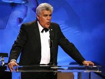 <p>Comedian Jay Leno hosts the 30th Carousel of Hope gala in Beverly Hills, California October 25, 2008. The evening benefits the Barbara Davis Center for Childhood Diabetes. REUTERS/Mario Anzuoni</p>