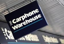 <p>Logo di Carphone Warehouse a West London. REUTERS/Toby Melville</p>