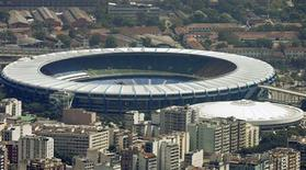 <p>Estádio do Maracanã, no Rio de Janeiro, que pode sediar o jogo final da Copa 2014. REUTERS/Bruno Domingos</p>