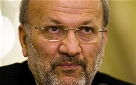 Iran's Foreign Minister Manouchehr Mottaki speaks at a media conference in Tehran June 1, 2009. REUTERS/Caren Firouz