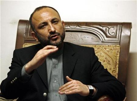 Afghan Interior Minister Mohammad Hanif Atmar speaks with reporters in Kabul March 3, 2009. REUTERS/Omar Sobhani