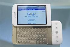<p>Home page Google su un cellulare G1. REUTERS/Jacob Silberberg (UNITED STATES)</p>