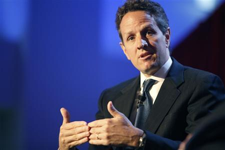 US Treasury Secretary Timothy Geithner speaks at a forum on the economy in New York June 15, 2009. REUTERS/Jacob Silberberg