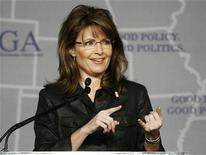 <p>Governor Sarah Palin (R-AK) speaks during a Plenary Session at the 2008 Republican Governors Association Annual Conference in Miami November 13, 2008. REUTERS/Hans Deryk</p>