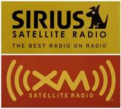 <p>The logos of Sirius Satellite Radio and XM Satellite Radio are shown at a Washington area electronics store February 20, 2007. REUTERS/Jason Reed</p>