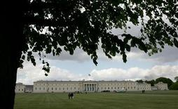 <p>A general view of Sandhurst Military Academy in south east England, May 8, 2005. REUTERS/Toby Melville</p>