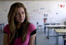 <p>Arab Israeli student Neama Ibrahim, 18, poses in a classroom at the Abu Ghosh High School near Jerusalem June 30, 2009. REUTERS/Darren Whiteside</p>