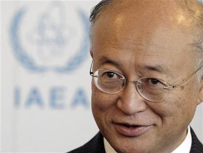 Newly-elected Director General of the International Atomic Energy Agency (IAEA) Yukiya Amano of Japan attends a meeting at Vienna's UN headquarters July 3, 2009. REUTERS/Herwig Prammer