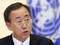 <p>Il segretario generale dell'Onu Ban Ki-moon. REUTERS/Yuriko Nakao</p>
