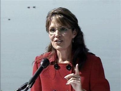 A video frame grab shows former U.S. Republican Alaska Governor Sarah Palin announcing that she will resign this month and will not run for re-election as governor in Wasilla, Alaska, July 3, 2009. REUTERS/KTUU-TV