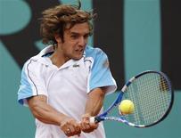 <p>O tenista francês Mathieu Montcourt, em foto de arquivo, participou do toneio em Roland Garros em maio de 2009, em Paris. REUTERS/Benoit Tessier</p>