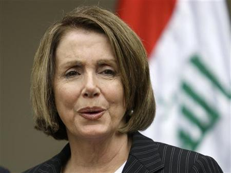 Speaker of the House of Representatives Nancy Pelosi speaks during a news conference in Baghdad May 10, 2009. REUTERS/Saad Shalash