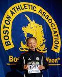 <p>Immagine d'archivio del maratoneta giapponese Keizo Yamada. REUTERS/Brian Snyder</p>