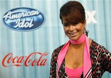 "<p>American Idol judge Paula Abdul poses at the party for the 12 finalists of the television show ""American Idol"" in Los Angeles March 5, 2009. REUTERS/Mario Anzuoni</p>"