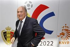 <p>Presidente da Fifa, Joseph Blatter, em Bruxelas. 20/07/2009. REUTERS/Thierry Roge</p>