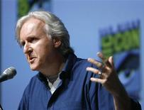 "<p>Director, writer and producer James Cameron speaks during a panel discussion for his upcoming movie ""Avatar"" at the 40th annual Comic Con Convention in San Diego July 23, 2009. The convention runs from July 23 to July 26. REUTERS/Mario Anzuoni</p>"
