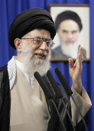 Iran's Supreme Leader Ayatollah Ali Khamenei delivers a sermon during Friday prayers at Tehran University June 19, 2009. REUTERS/Morteza Nikoubazl
