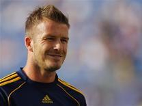 <p>Jogador do Los Angeles Galaxy David Beckham em Foxborough. 08/08/2009. REUTERS/Brian Snyder</p>