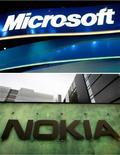 <p>Selon des analystes, le récent accord conclu par Microsoft et Nokia dans les logiciels pour mobiles pourrait leur permettre de garder la main face aux éditeurs concurrents mais il risque de porter préjudice au système d'exploitation Windows Mobile du géant américain. /Photos d'archives/REUTERS</p>