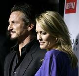 "<p>Cast member Sean Penn (L) and Robin Wright Penn arrive for the premiere of the film ""Milk"" in Beverly Hills, California November 13, 2008. REUTERS/Danny Moloshok</p>"