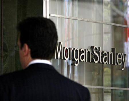 A man walks into the Morgan Stanley building in New York, April 29, 2009. REUTERS/Brendan McDermid