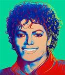 """<p>Fotografía publicitaria de un cuadro de Michael Jackson realizado por el artista Andy Warhol. Un retrato del fallecido """"Rey del Pop, Michael Jackson, pintado por la figura símbolo del arte pop Andy Warhol se vendió en un remate en Nueva York por una suma no revelada. REUTERS/Vered Gallery/Handout</p>"""
