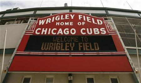 A view of Wrigley Field in Chicago April 2, 2007. REUTERS/John Gress