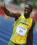 <p>Il campione del mondo dei 100 e 200 metri Usain Bolt. REUTERS/Wolfgang Rattay (GERMANY SPORT ATHLETICS HEADSHOT)</p>