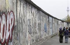 <p>Novo Muro de Berlim é construído para artistas de rua (foto de arquivo).</p>