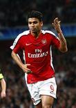 <p>Atacante Eduardo Silva, do Arsenal, em foto de arquivo, será julgado pela Uefa por cavar pênalti. REUTERS/Eddie Keogh</p>