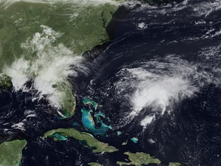Tropical Storm Danny moves through the Atlantic in a satellite image taken August 27, 2009. REUTERS/NOAA/Handout