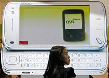<p>Una pubblicità di Nokia a Singapore. REUTERS/Vivek Prakash</p>