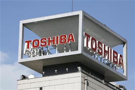 The logo of Toshiba Corp is seen at the company's headquarters in Tokyo, January 10, 2009. REUTERS/Stringer