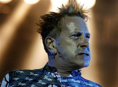 The Sex Pistols lead singer John Lydon, also known as Johnny Rotten, performs at the Azkena Rock Festival in Vitoria, September 5, 2008. REUTERS/Vincent West
