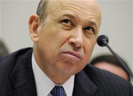 Goldman Sachs' Lloyd Blankfein before the House Financial Services Committee on Capitol Hill, February 11, 2009. REUTERS/Larry Downing