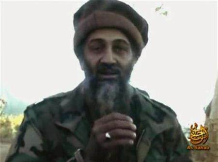 A 2007 video grab from undated footage shows Al Qaeda leader Osama bin Laden making statements from an unknown location. REUTERS/REUTERS TV