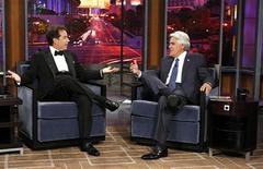 """<p>Comedian Jerry Seinfeld appears with host Jay Leno on the first episode of """"The Jay Leno Show"""". REUTERS/Justin Lubin/NBC Universal/Handout</p>"""