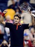 <p>Roger Federer enfatizou suas conquistas em 2009 após derrota no Aberto dos EUA REUTERS/Jeff Zelevansky</p>