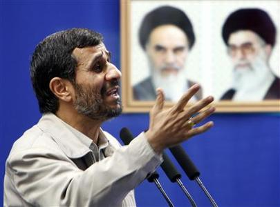 Iran's President Mahmoud Ahmadinejad speaks before Friday prayers in Tehran September 18, 2009. REUTERS/Raheb Homavandi