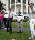 <p>O presidente Barack Obama participou de evento na Casa Branca no sábado para promover a candidatura de Chicago à sede das Olimpíadas de 2016. REUTERS/Larry Downing</p>