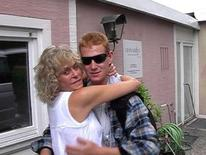 "<p>Actress Farrah Fawcett is shown with her son Redmond O' Neal in this publicity photo from the video diary ""Farrah's Story"" released to Reuters May 14, 2009. REUTERS/NBC/Handout</p>"