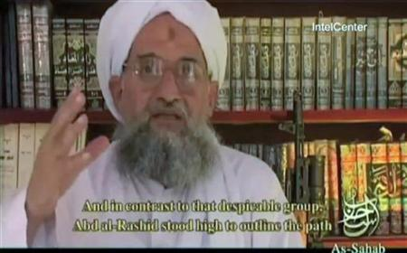 Al Qaeda's second-in-command Ayman al-Zawahri speaks in a grab from a video released September 20, 2007. REUTERS/via Internet