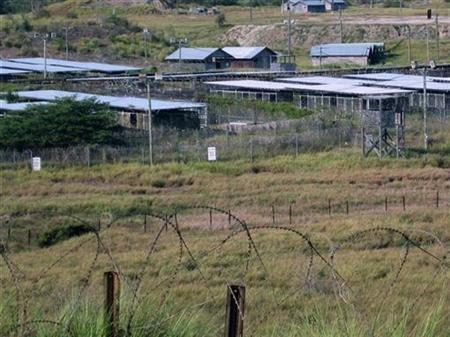 A view of Camp X-Ray in Guantanamo Bay U.S. Naval Base August 5, 2009. REUTERS/Deborah Gembara