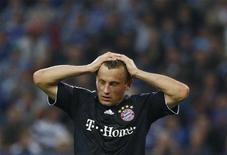 <p>Olic, do Bayern de Munich, após perder para o Hamburgo no Campeonato Alemão. REUTERS/Christian Charisius</p>