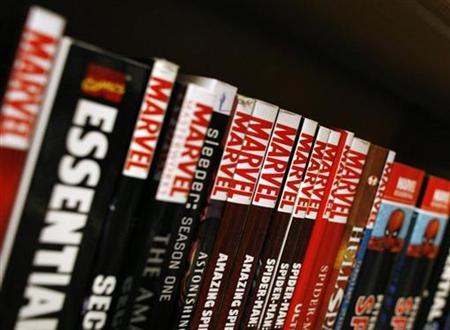 Marvel graphic novels sit on the shelf of a bookstore in New York, August 31, 2009. REUTERS/Brendan McDermid