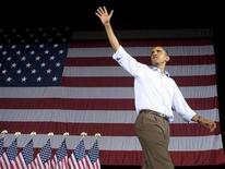 <p>Foto de archivo del presidente estadounidense durante las celebraciones del día del Trabajo en Coney Island, EEUU, 7 sep 2009. Estados Unidos es el país más admirado mundialmente, en gran parte gracias a la poderosa estrella del presidente Barack Obama y su Gobierno, según reveló una nueva encuesta. REUTERS/Larry Downing</p>